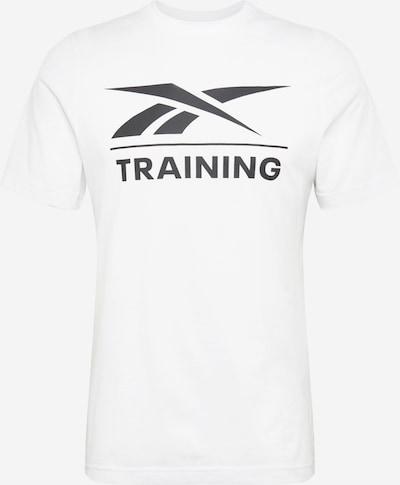 REEBOK Functioneel shirt in de kleur Zwart / Wit, Productweergave