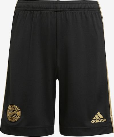 ADIDAS PERFORMANCE Sportbroek 'FC Bayern München' in de kleur Goud / Zwart, Productweergave