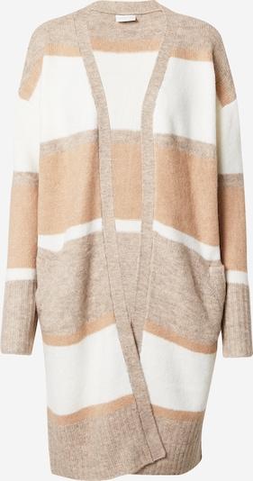 VILA Gebreid vest 'Sarabi' in de kleur Beige / Lichtoranje / Wit, Productweergave