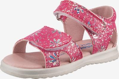 RICHTER Sandale in dunkellila / bordeaux / silber, Produktansicht