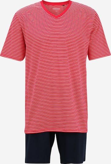 SCHIESSER Lyhyt pyjama värissä tummansininen / punainen / valkoinen, Tuotenäkymä