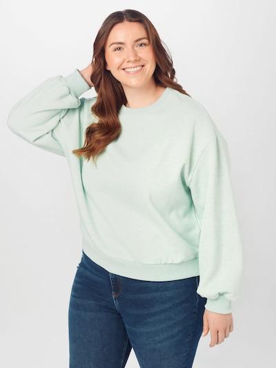 Urban Classics Curvy Sweat-shirt en aqua / bleu chiné: Vue de face