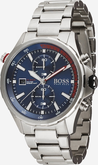 BOSS Analog watch 'GLOBETROTTER' in blue / silver, Item view