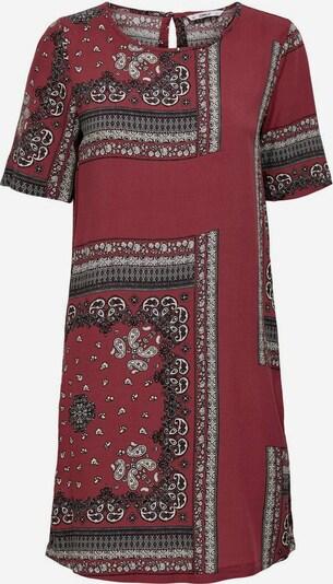 ONLY Kleid in dunkelrot / schwarz / weiß, Produktansicht