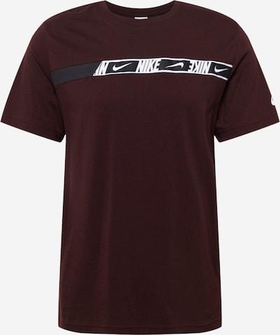 Nike Sportswear T-Shirt in Dark brown / Black / White, Item view