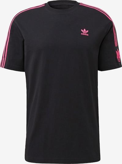 ADIDAS ORIGINALS Shirt ' Adicolor 3D Trefoil' in de kleur Pink / Zwart: Vooraanzicht