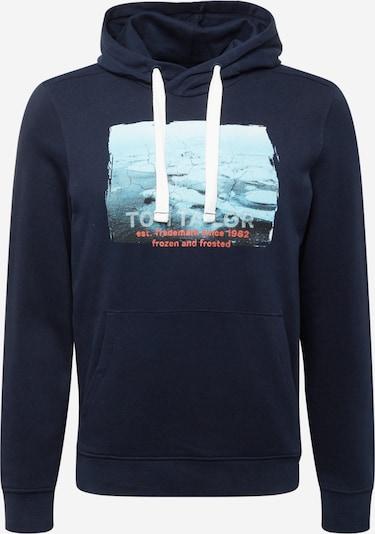 TOM TAILOR Sweatshirt i ljusblå / mörkblå / rödmelerad / vitmelerad, Produktvy