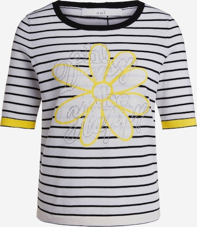 OUI Pullover in navy / gelb / weiß, Produktansicht
