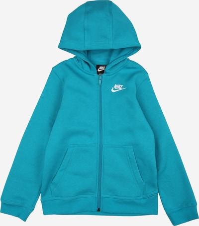 Nike Sportswear Jopa na zadrgo | voda / bela barva, Prikaz izdelka
