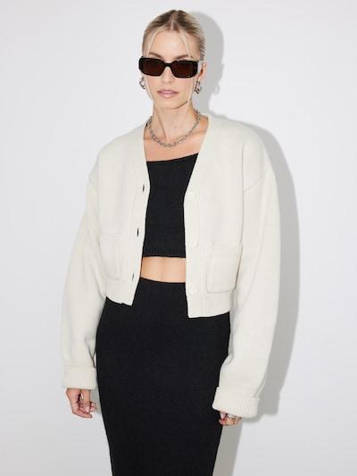 LeGer by Lena Gercke Cardigan 'Dita' en crème, Vue avec modèle