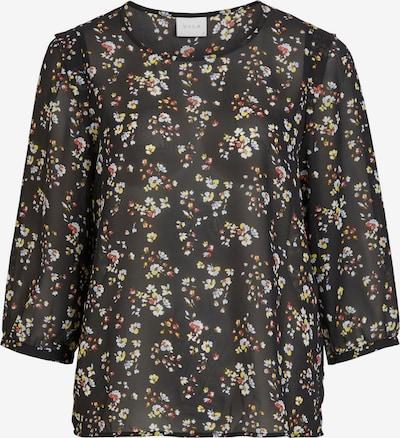 VILA Bluse 'Blossoms' in gelb / melone / schwarz / weiß, Produktansicht