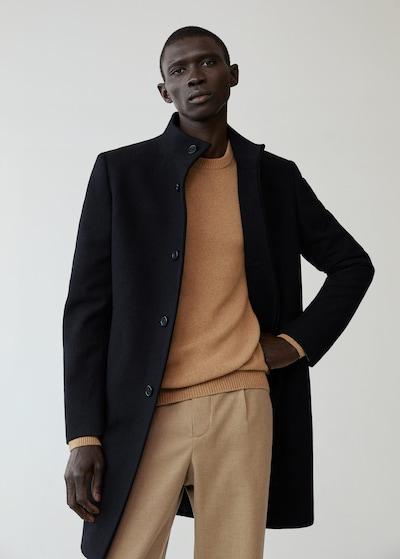 MANGO MAN Overgangsfrakke i sort, Modelvisning