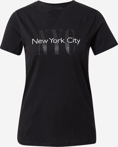 NEW LOOK T-shirt en noir / noir chiné / blanc, Vue avec produit
