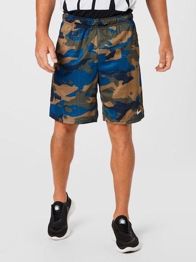 NIKE Športové nohavice - kráľovská modrá / medová / kaki / biela, Model/-ka