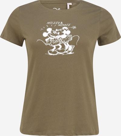 ONLY Carmakoma T-shirt 'Minnie And Mickey' en vert / blanc, Vue avec produit