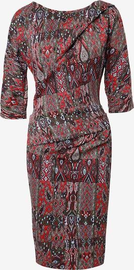 Madam-T Etuikleid 'PIHTA' in khaki / rot / schwarz / weiß, Produktansicht