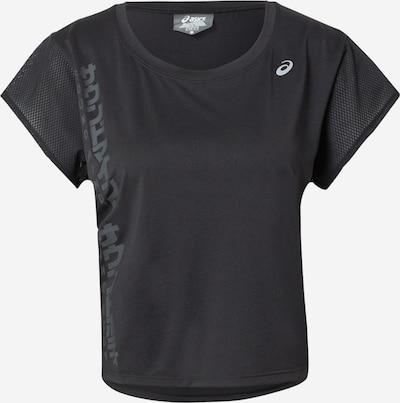 ASICS Sportshirt in grau / schwarz / weiß, Produktansicht