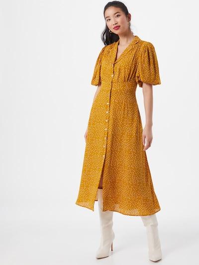 Louche Kleid in gelb / weiß, Modelansicht