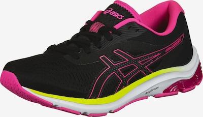 ASICS Chaussure de course en jaune / rose / noir, Vue avec produit