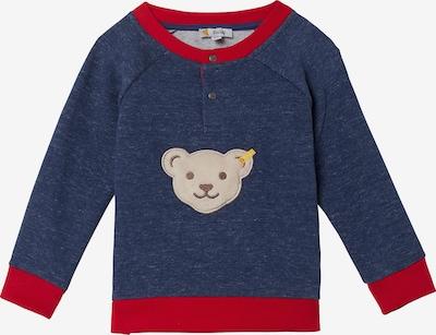 STEIFF Sweatshirt in camel / blaumeliert / rot, Produktansicht