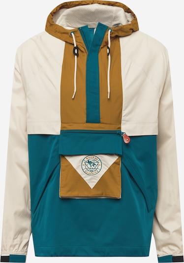 Reebok Classics Jacke in creme / ocker / smaragd, Produktansicht