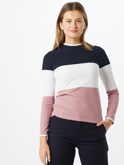 EDC BY ESPRIT Majica u plava / roza / bijela: Prednji pogled