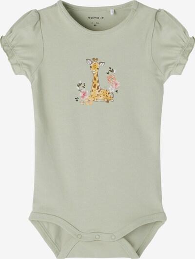 NAME IT Body 'Jeane' in pastellgrün / mischfarben: Frontalansicht