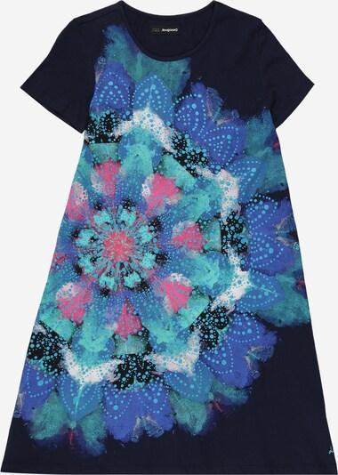 Desigual Kleid in navy / türkis / royalblau / pink / weiß, Produktansicht