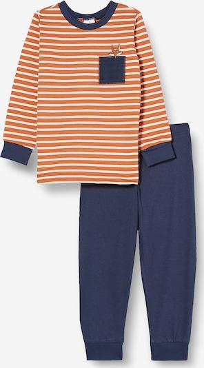SCHIESSER Nachtkledij in de kleur Blauw / Sinaasappel, Productweergave