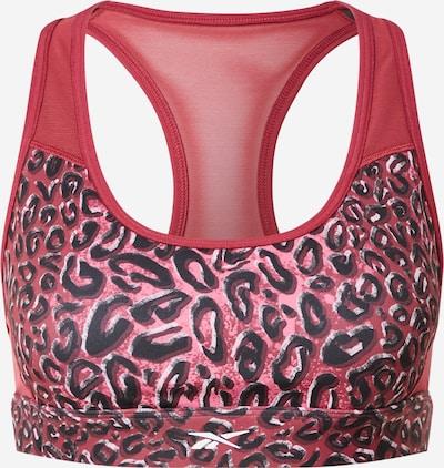 Reebok Sport BH in hellgrau / pink / schwarz, Produktansicht