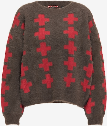 myMo ROCKS Oversized Sweater in Brown