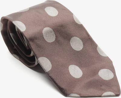 ARMANI Seidenkrawatte in One Size in dunkelbraun / grau, Produktansicht