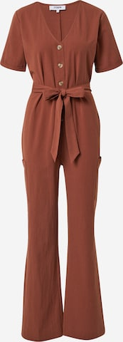 ABOUT YOU Limited Jumpsuit 'Yvonne' by Yvonne Pferrer i brun
