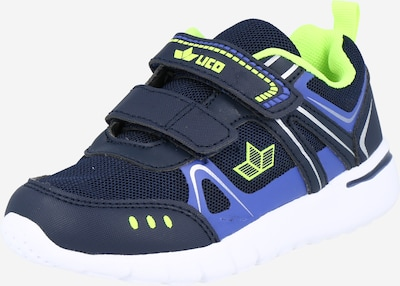 LICO Sneaker 'ESTERO' in navy / rauchblau / neongrün, Produktansicht