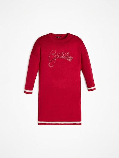 GUESS KIDS Strickkleid in rot / weiß, Produktansicht