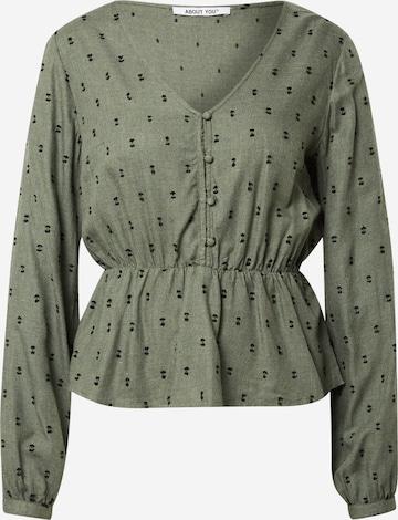Bluză 'Franca' de la ABOUT YOU pe verde