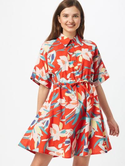 Rochie tip bluză Trendyol pe turcoaz / galben pastel / albastru violet / roșu deschis / alb, Vizualizare model