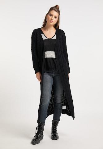 myMo ROCKS Knit Cardigan in Black