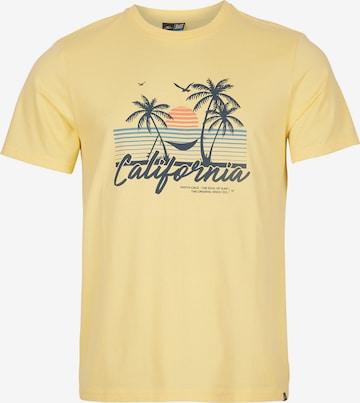 O'NEILL Тениска 'California Beach' в жълто
