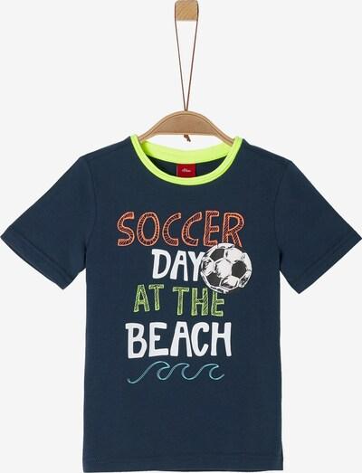 s.Oliver Junior Shirt in nachtblau / mischfarben, Produktansicht