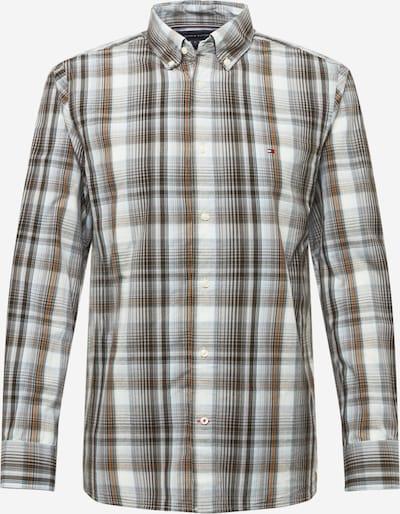 TOMMY HILFIGER Hemd in cognac / hellbraun / grau / hellgrau / weiß, Produktansicht