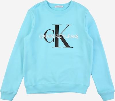 Calvin Klein Jeans Sweat en bleu clair / noir / blanc, Vue avec produit