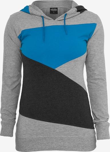 Urban Classics Majica u nebesko plava / siva melange / crna, Pregled proizvoda