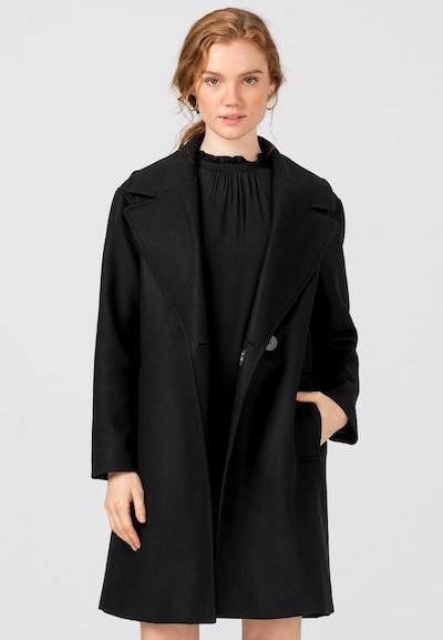 HALLHUBER Between-Seasons Coat in Black, View model