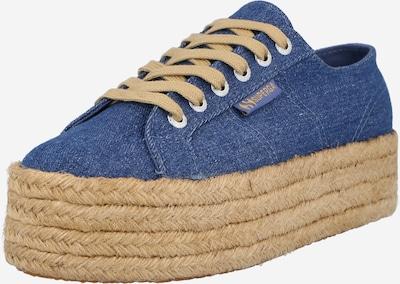 SUPERGA Zemie brīvā laika apavi, krāsa - zils džinss, Preces skats