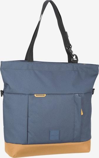 Pacsafe Shopper in taubenblau / braun, Produktansicht