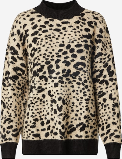 JACQUELINE de YONG Пуловер 'Lian' в бежово / черно, Преглед на продукта