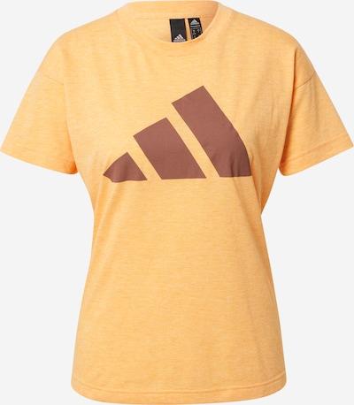 Sportiniai marškinėliai iš ADIDAS PERFORMANCE , spalva - ruda / mandarinų spalva, Prekių apžvalga