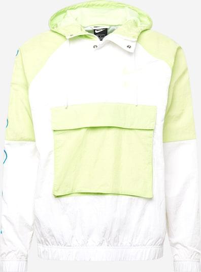 Nike Sportswear Funkční bunda 'Swoosh Woven' - modrá / jablko / bílá, Produkt