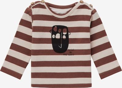 Noppies Shirt in de kleur Bruin / Wit, Productweergave